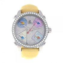 Jacob & Co. Five Time Zone Stainless Steel Diamond Pave Dial...