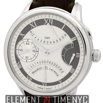 艾美 (Maurice Lacroix) Masterpiece Double Retrograde GMT Silver...