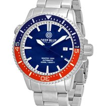 Deep Blue Master 1000 Diver Auto Watch Ceramic Blue/red Bezel...