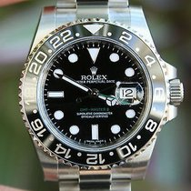 Rolex Mens Gmt Ii Stainless Steel 40mm 116710 New Black...