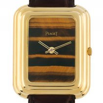 Piaget Beta Tiger Eye 18kt Gelbgold Quarz Armband Leder...