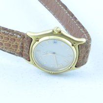 Ebel Classic Wave Damen Uhr 25mm Quartz 18k 750 Gold Massiv