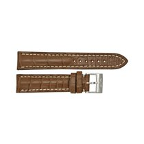 百年靈 (Breitling) Brown Strap with White Stitching and a...