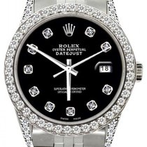 Rolex Datejust Ladies' 26mm Black Dial Stainless Steel...