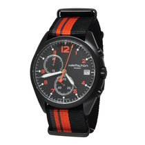 Hamilton KHAKI AVIATION PILOT PIONEER CHRONO QUARZO Black  Red...