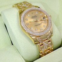 "Rolex Masterpiece Pearlmaster 81338 Rare 34mm ""flame""..."