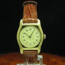 Art Deco Art-deco Art Deko Gold Mantel Handaufzug Damenuhr /...