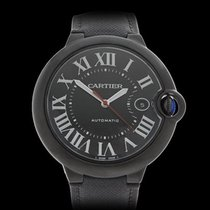 Cartier Ballon Bleu Black DLC Coated Stainless Steel Gents...
