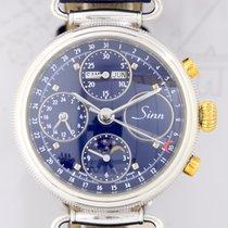 Sinn Chronograph Mondphase Vollkalender 925 silver blue dial...