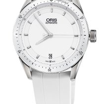 Oris Artix GT Date, Ceramic Top Ring, White Rubber Bracelet