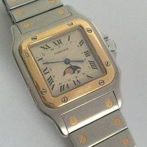 Cartier CERTIFIED $4,950 CARTIER SANTOS MOONPHASE 18K Gold/SS...