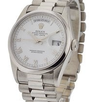 Rolex Used 16206_used_white President Day-Date 16206 in...