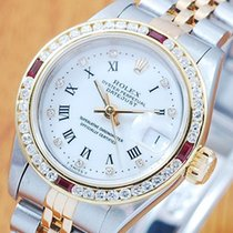 롤렉스 (Rolex) Rolex Diamonds Ruby DateJust Automatic Women's...
