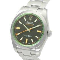 ロレックス (Rolex) Milgauss Green Sapphire Anti-Magnetic Steel 40MM...