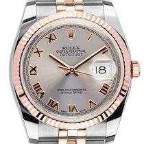 Rolex Datejust Stahl 18kt Roségold Everose Automatik Armband...