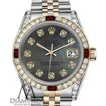 Rolex Women's Rolex 36mm Datejust 2tone Black Mop Dial...