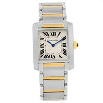 Cartier Tank Francaise Midsize Steel Yellow Gold Womens Watch...