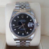 Rolex WOW 16234 Date Just Jubilee no stretch black diamond dial