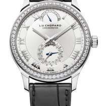 Chopard L.U.C Quattro 18K White Gold & Diamonds Unisex Watch