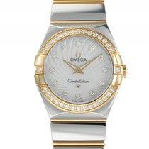 Omega Constellation Stahl Gelbgold Quarz Diamond Perlmutt...