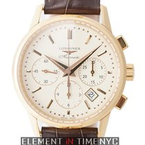 Longines Heritage Chronograph 18k Rose Gold 40mm Off-White Dial