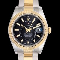 Rolex Sky-Dweller Black Steel/18k Yellow Gold 42mm - 326933