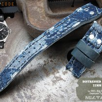 IWC MiLTAT IWC Big Pilot Replacement Band, Distressed Denim