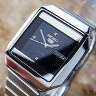 Seiko 5 Stainless Steel Automatic Japan Vintage 1970s Mens...