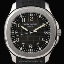 Patek Philippe Stainless Steel Black Dial Jumbo Aquanaut...