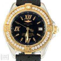 Breitling Uhr B-Blass Diamanten Quarz Edelstahl/Gold Ref. D71365