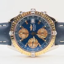Breitling Chronomat 18k Gold Steel Full Set (With Steel Gold...