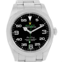 Rolex Oyster Perpetual Air King Black Dial Steel Mens Watch...