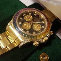Rolex Daytona Rainbow Sapphire Bezel Dial Yellow Gold