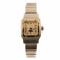 Cartier Santos Moonphase Steel and Gold Ladies Watch (Pre-Owned)