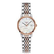 Longines Elegant Automatic Steel & Rose Gold Ladies Watch...