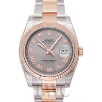Rolex Datejust Grey Steel/18k Rose Gold 36mm - 116231