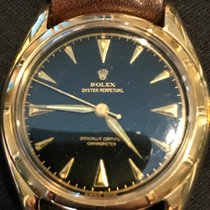Rolex Oyster Perpetual 6085 Gilt Gloss Bubble Back 18k Yellow...