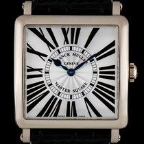 Franck Muller 18k White Gold Silver Dial Master Square B&P...