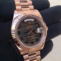 Ρολεξ (Rolex) Day-Date II Gold Brown