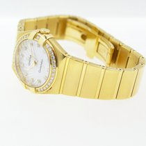 Omega Constellation Lady Brushed 18K Gold mit Brillanten