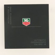 TAG Heuer Instruction Manual Booklet