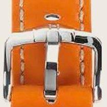 Hirsch Uhrenarmband Leder Carbon orange L 02592076-2-18 18mm