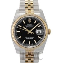 롤렉스 (Rolex) Datejust Gold/Steel Black/18k gold Ø36 mm - 116233