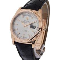 Rolex Unworn 118135 Day-Date 36mm in Rose Gold on Strap -...