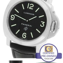 Panerai PAM 000 N Luminor Base Black Automatic 44mm Watch...