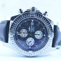 Breitling Super Avenger Uhr Stahl/stahl 48mm Rar Schwarz Top...
