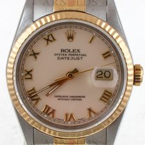 Rolex 1990 Gents Two Tone Datejust Cream Roman Dial Jubilee Band