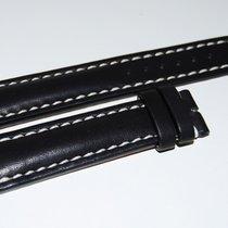 Breitling Kalbslederband für Dornschliesse Schwarz  20-18 mm