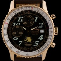 Breitling 18k R/G Black Dial Montbrilliant Eclipse Moonphase...