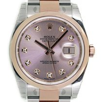 Rolex DATEJUST 36mm Steel & 18K Rose Gold Pink Diamond Dial